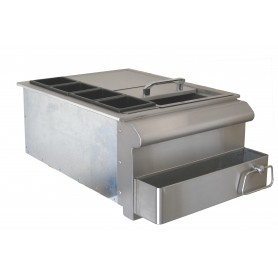 "SET ENCASTRABLE BAR CENTER 18"" INOX"